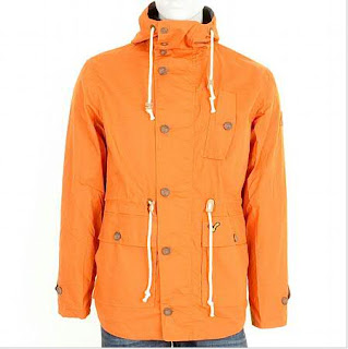 Voi Terrace Fish Tail Hem Coated Jacket in Burnt Jeans
