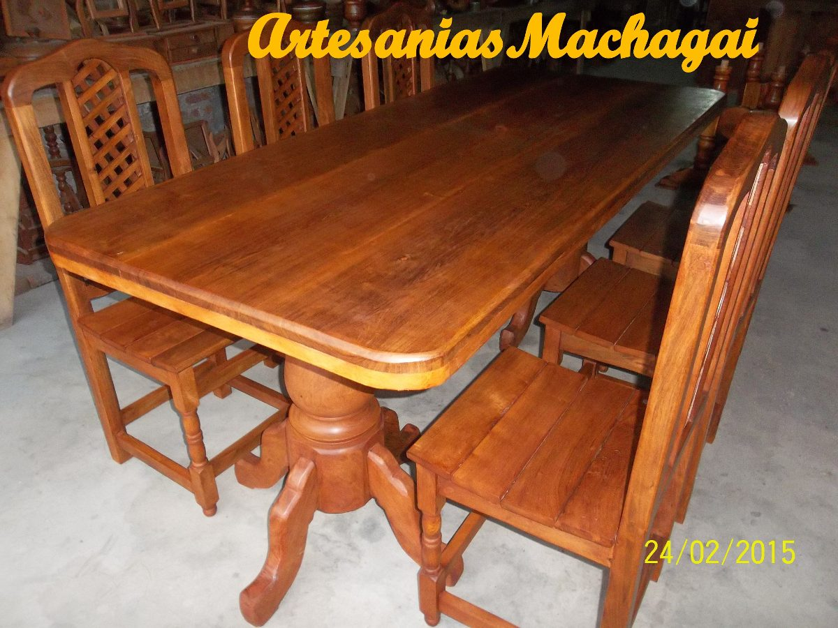 F brica de muebles y artesan as en algarrobo machagai for Mesas y sillas algarrobo precios