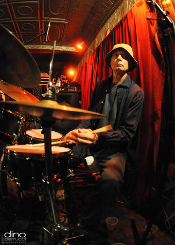 Johnny Vidacovich drums at the Maple Leaf