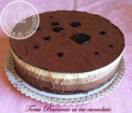 bavarese ai 3 cioccolato per il mio compleanno