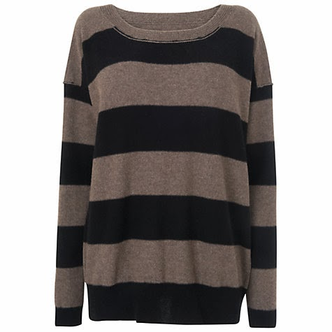 Stylish dark colored sweater for fall