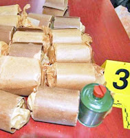 54-year old man arrested by police with 9 kg cannabis sativa and 9 kg of explosive