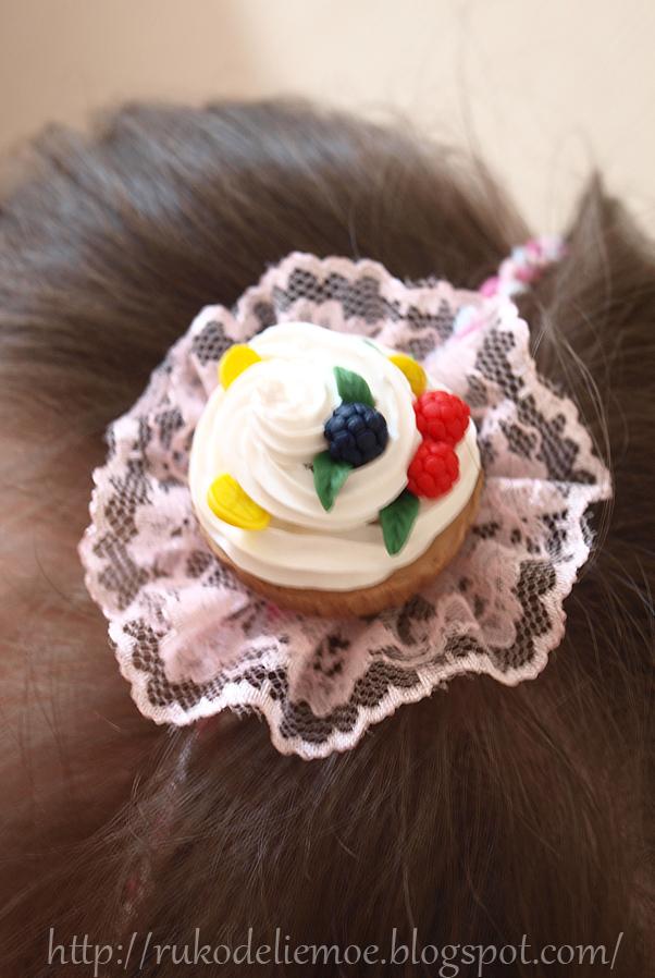 ободок для волос с тортиком