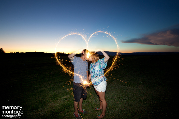 engagement sparkler photo