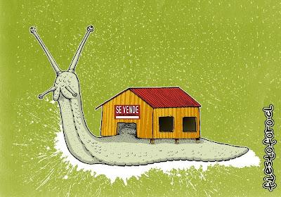 Crisis subprime afecta hasta al caracol quien debe vender su casa