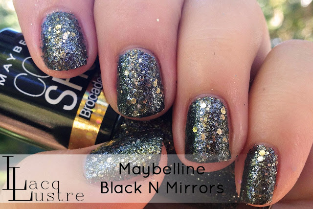 Maybelline Black N Mirrors swatch