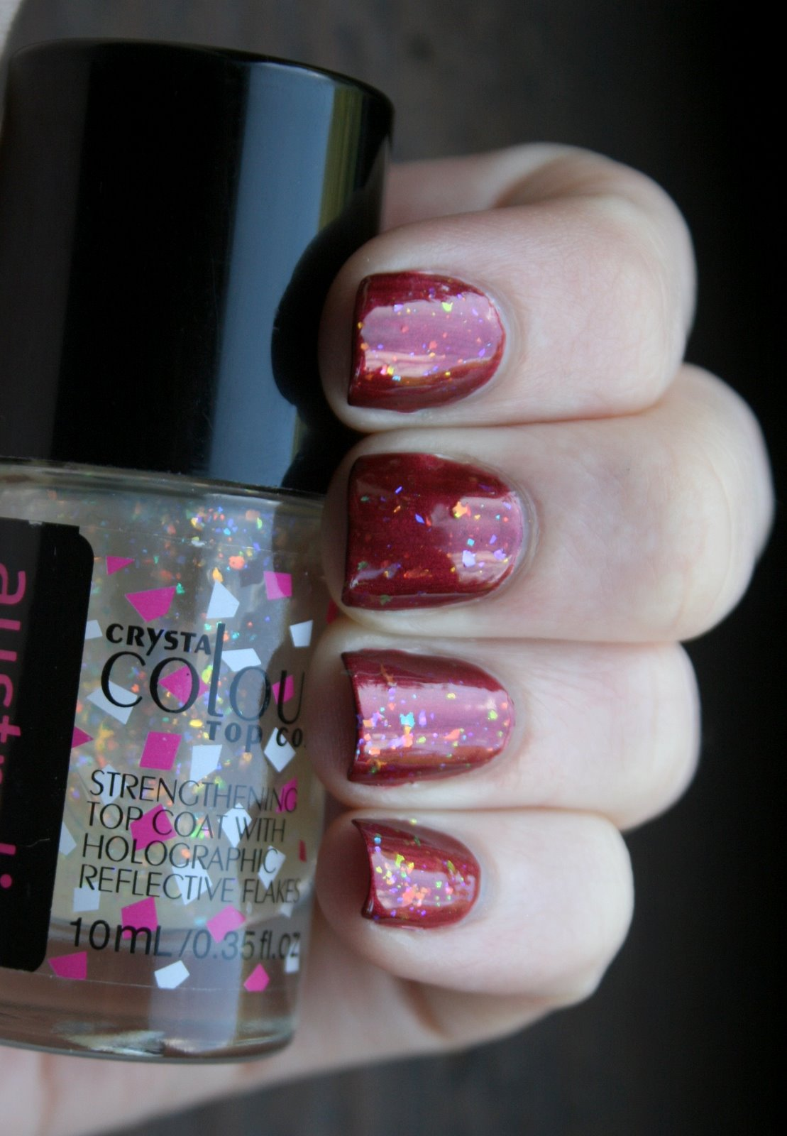 Australis Specktacular over Revlon Very Currant swatch