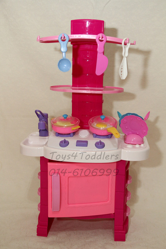 Toys4toddlers mini kitchen set pink for Kitchen set pink