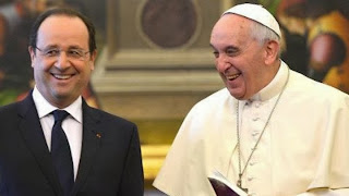 Pope and Hollande
