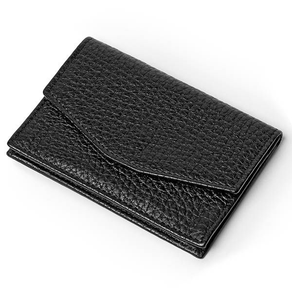Wobisobi leather business card holder diy for Leather business card organizer