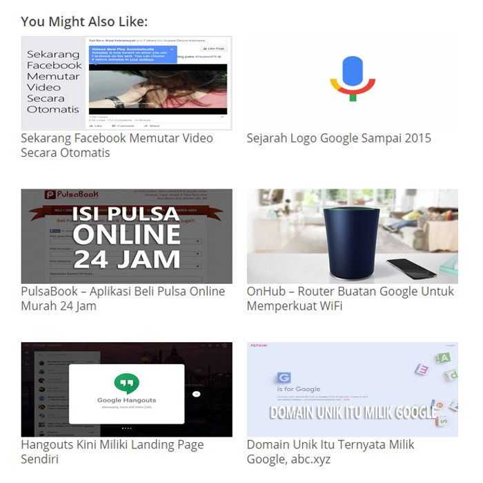 Related Post Wordpress Tanpa Plugin