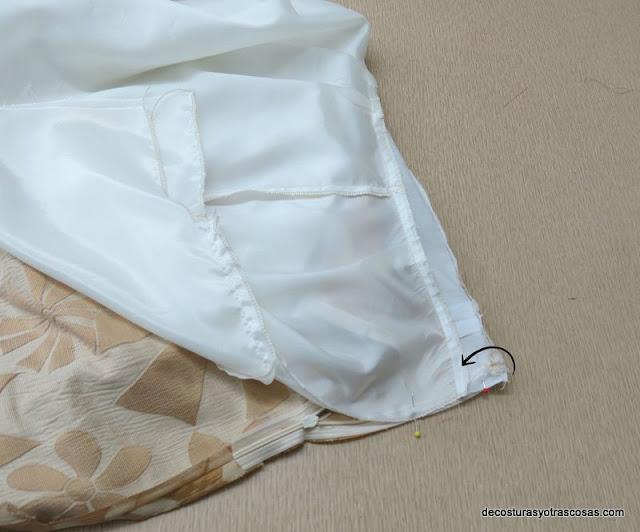 como coser forro a la cinta de la cremallera o zip