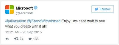تغريد مايكروسوف لدعم احمد
