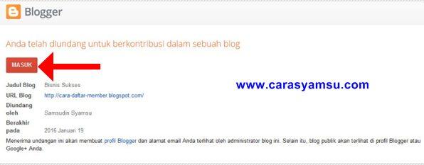 Menerima Undangan Menjadi Kontributor Blog