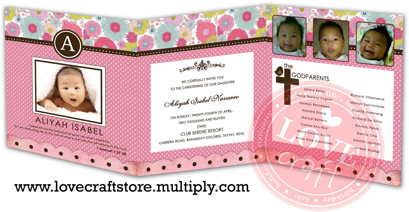 Mix of randomness proposed designs for aliyahs baptismal invitation stopboris Choice Image