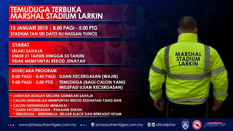 Temuduga Terbuka Interview Marshal Stadium Larkin JB 13 Jan 2015