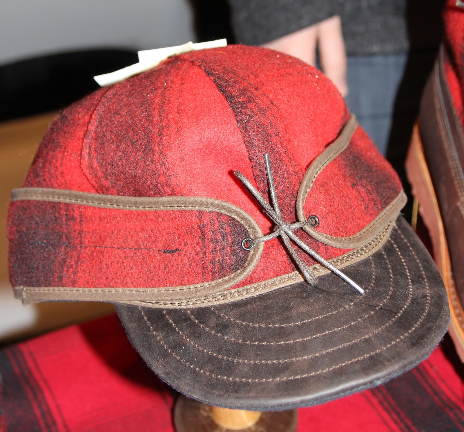 Stormy Kromer Mercantile collabs with Wolverine  Peninsula Cap (bridging  the Upper and lower Michigan Peninsulas---fyi) the burnished Horween  leather lid on ... 0cb46b24c4a8