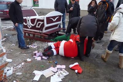 Santa Claus borracho