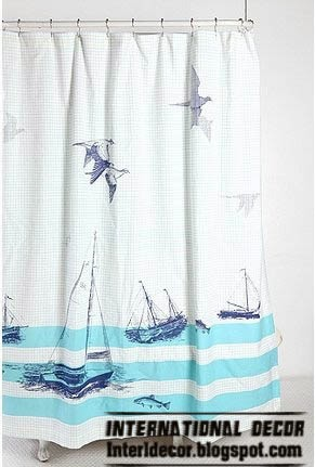 latest designs of shower curtains navy style