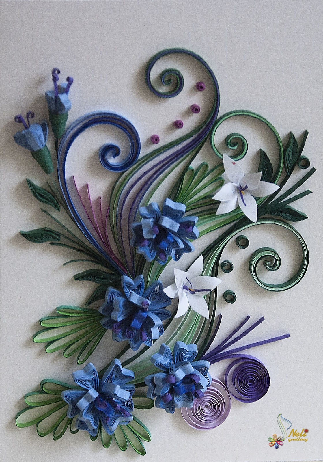 Neli quilling art quilling cards flowers for Quilling paper craft ideas