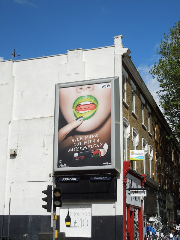 Watermelon 5 Gum billboard London