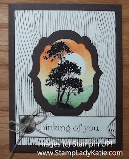Card made with Stampin'UP! Serene Silhouettes and a masked sun