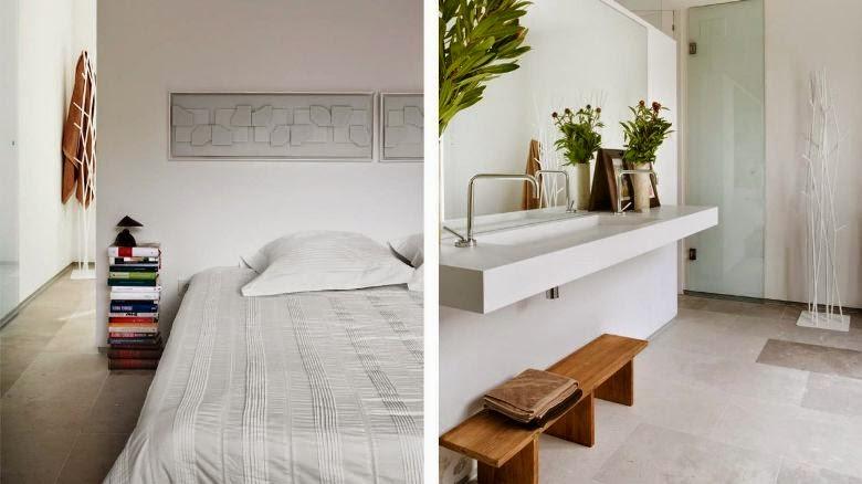dormitorio de diseño con baño integrado