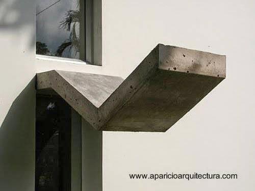 Abertura con una forma de concreto al tope