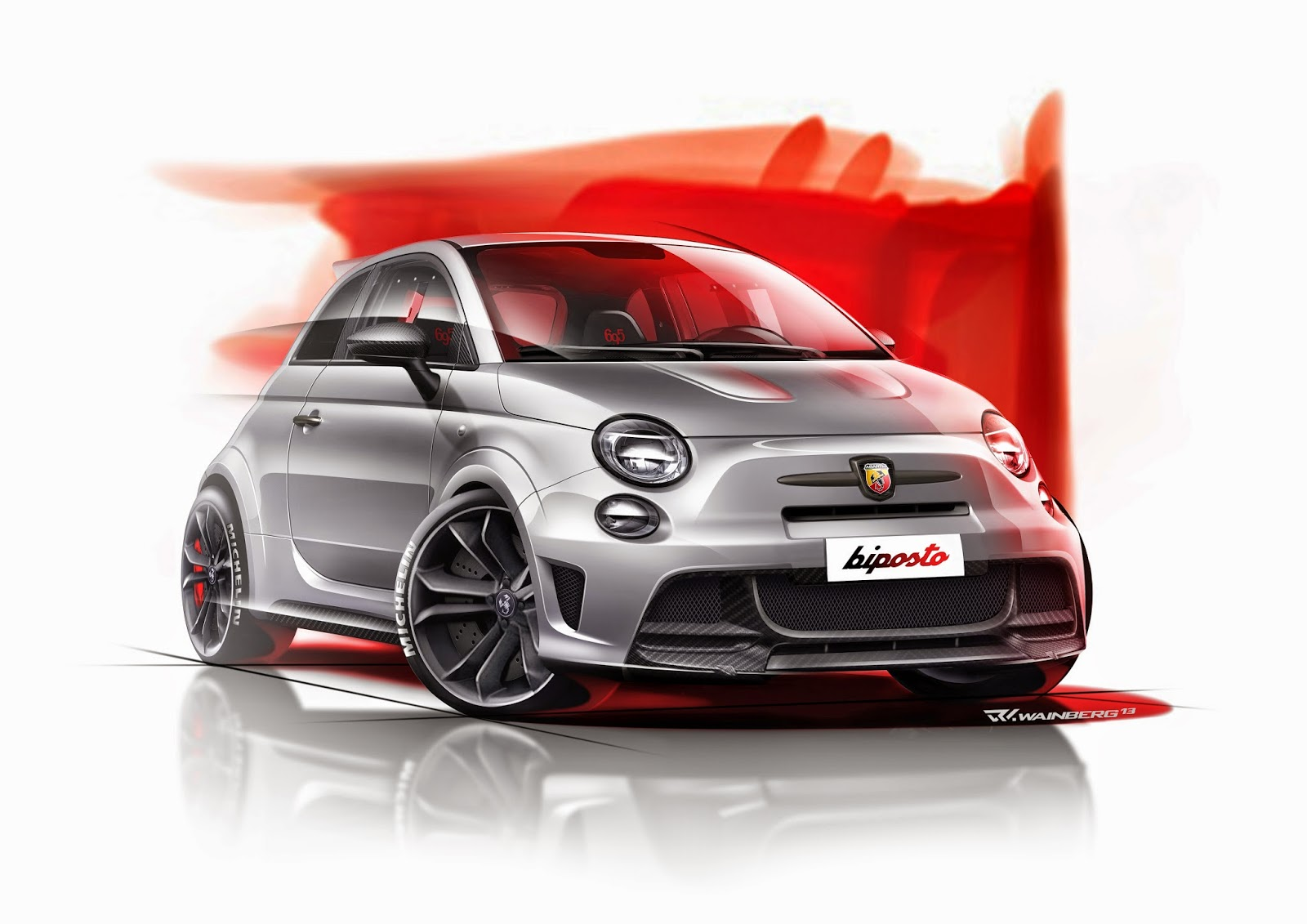 abarth blog black label disegni abarth 695 biposto. Black Bedroom Furniture Sets. Home Design Ideas