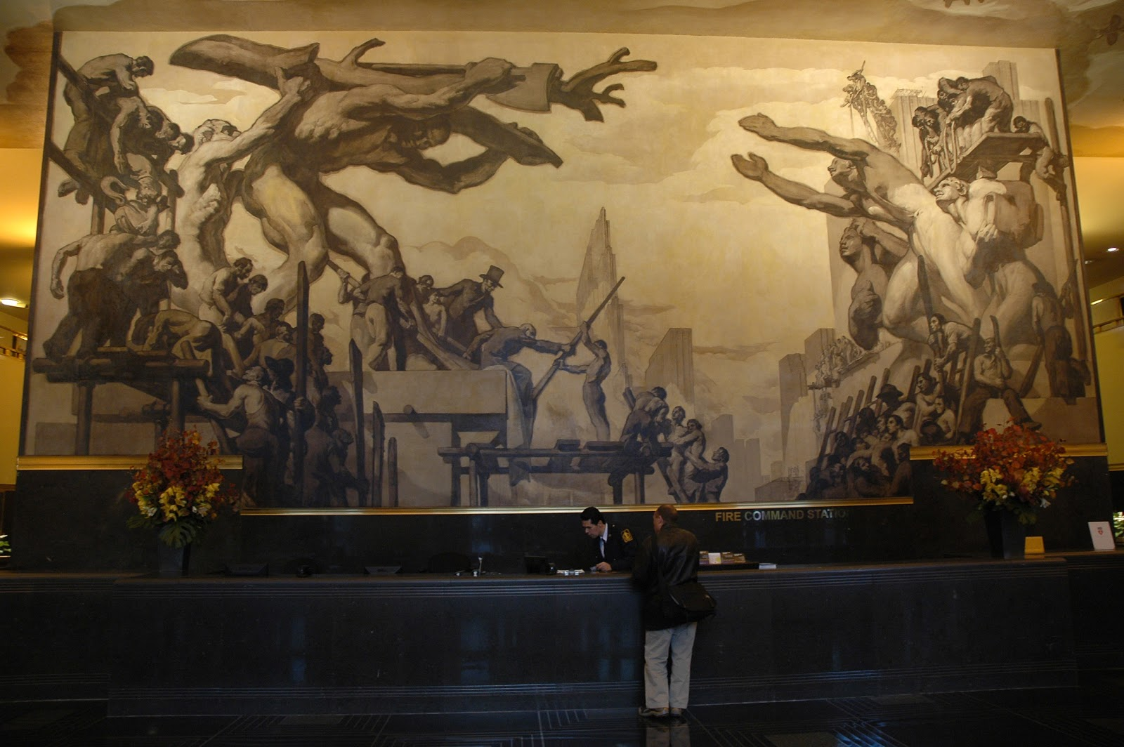 Blog from the studios of garin baker for Diego rivera mural at rockefeller center