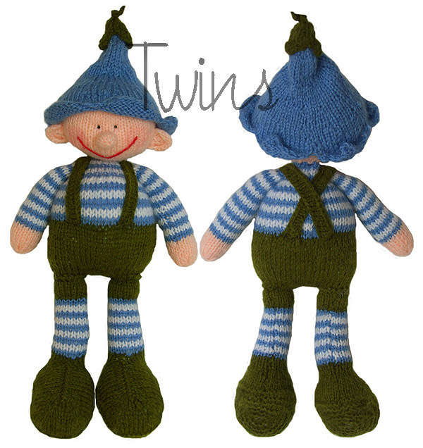 Knitted Elf Pattern : Twins Knitting Pattern MiniShop: Bell, the knitted Garden Elf (in English)