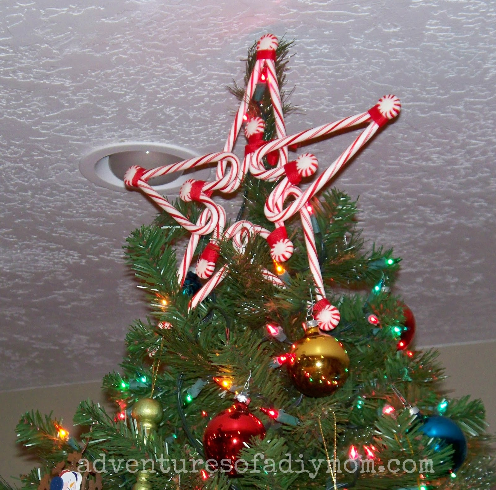 Candy Cane Star Tree Topper