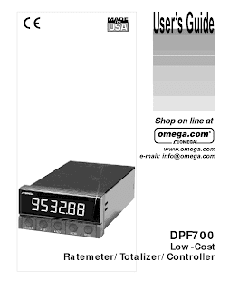 DPF700. Low-Cost. Ratemeter Totalizer Controller