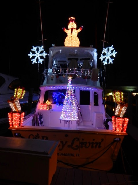 The Christmas Boat Parade Started At Marker 1 Marina And Many Of The Boats  Had Elaborate Decorations. There Were 26 Boats In All.