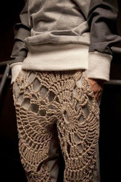 crochet trendy mans pants