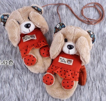 Cute CartoonFont b,bear b font plush gloves