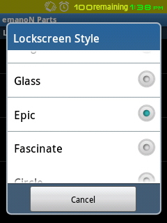 LockScreen Style - Choose from 9 different Styles