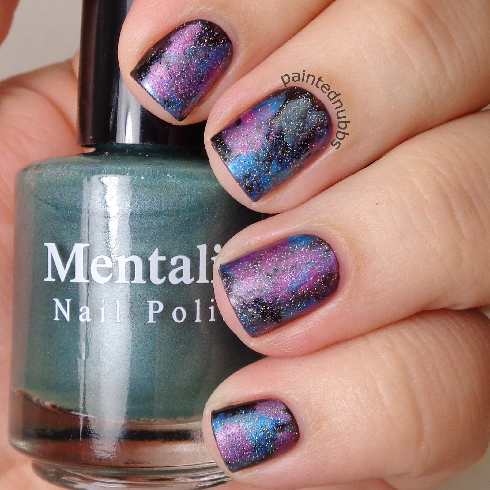 Painted Nubbs Twinkie Nail Art Challenge December Week 1 Bubble