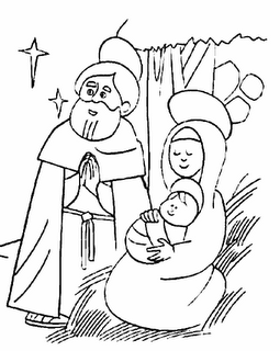 Riscos para pintura de presépios de natal