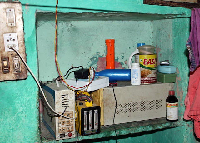 consumer goods in a rural Indian home