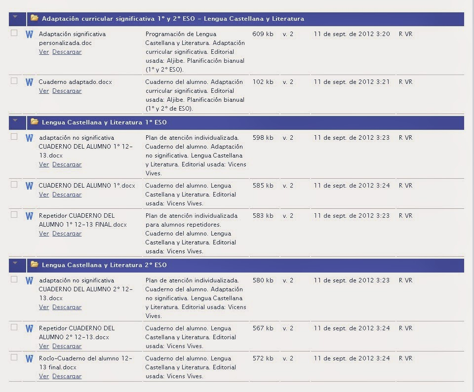 ADAPTACIÓN CURRICULAR SIGNIFICATIVA 1º Y 2º DE ESO LENGUA CASTELLANA Y LITERATURA