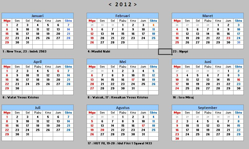 download kalender 2012 indonesia
