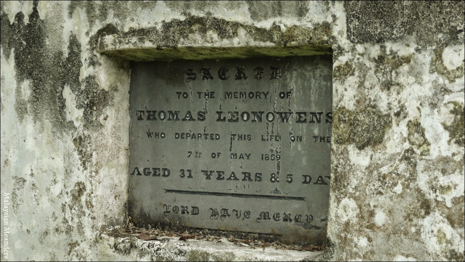 Old Protestant Cemetery, Penang, Anna Leonowens