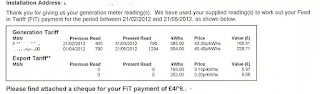 new rate Feed in Tariff rates (FIT) from 1st April 2013