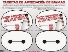 Tarjetas de Apreciación de Baymax