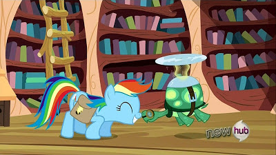 Rainbow Dash and Tank rub noses