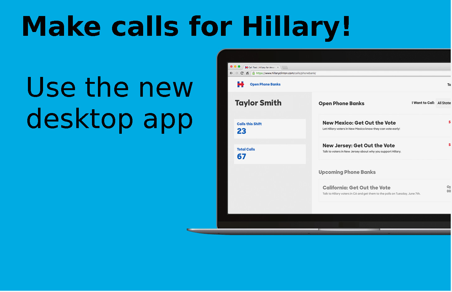 Make calls for Hillary!