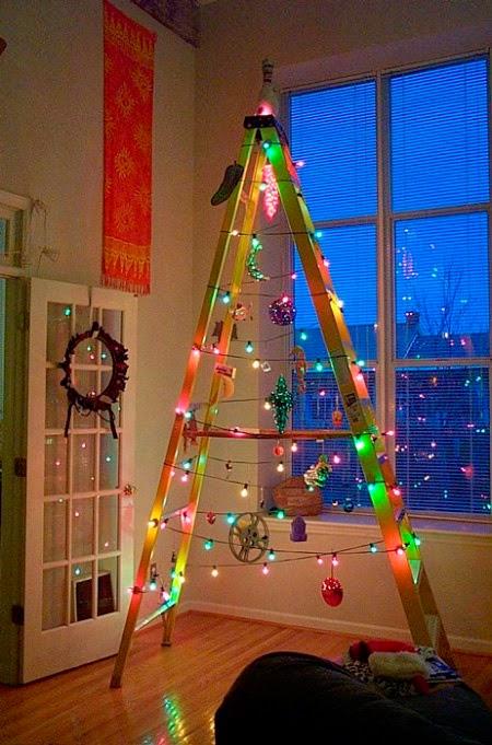 arvore de natal de escada