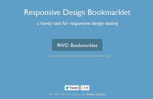 15 Best Responsive Web Design Testing Tools - RWD Bookmarklet