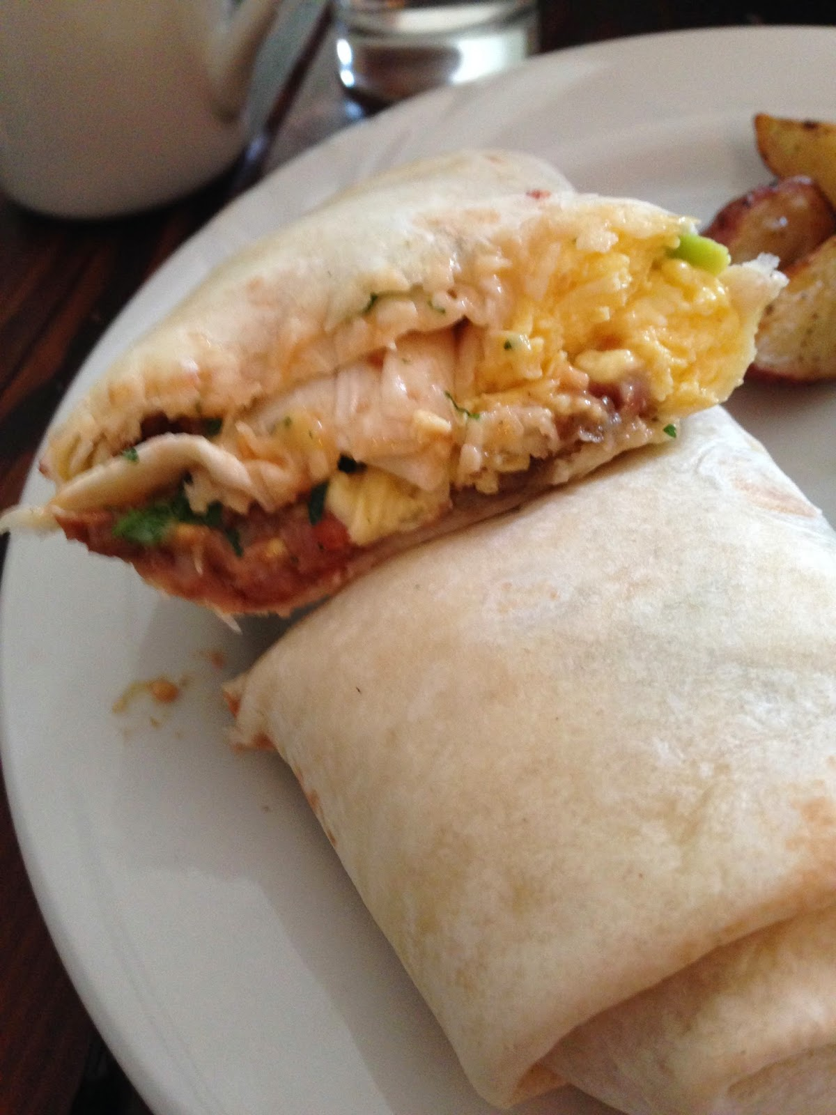 Breakfast Burrito from Bad Habit Room in Portland, OR | The Economical Eater